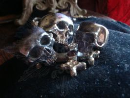 Vanitas and childhood skull by ReliquiaArcana