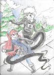 Danny and Jazz Snow Day by RaineyReaper