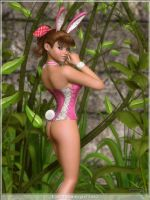 Easter Bunnygirl 2012 by rrward