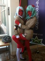 Anime Banzai 2012 Scanty and Kneesocks by Fainting-Ostrich
