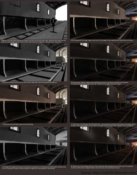 Step by Step Digital Painting (industrial freight) by xray360