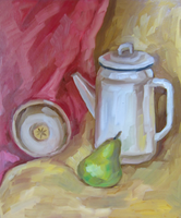 White Kettle with pear by Kaitana