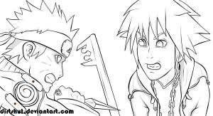 NARUTO vs. SORA lineart by dirtshut