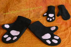 Cute paw mittens by Mystic-Creatures