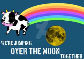 Elsie, let's jump over the moon by LittleFabalaFae