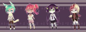 [Open1/4]  Megane Adopts #10 [Now set price] by riz-cake-adopts