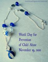 World Day of Child Abuse Prevention Necklace by Forbiddenynforgotten
