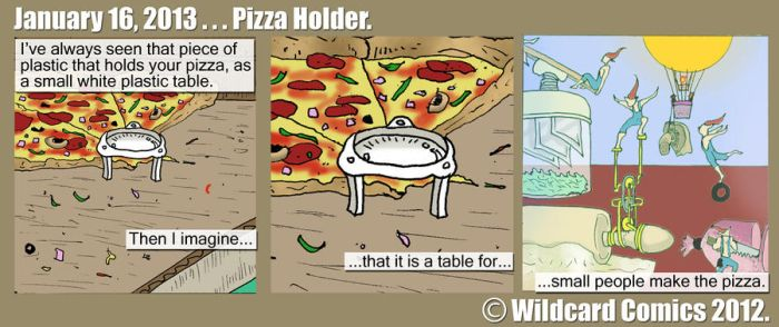 Pizza Holder by wildcardcomics