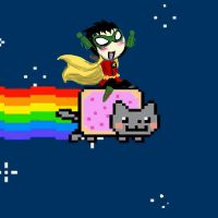 Damian + NyanCat gif CLICK by HezuNeutral