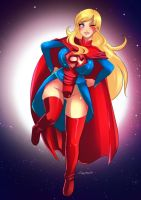 Supergirl in new Outfit - original by Jaggyd by kclcmdr