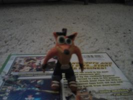 (old) Crash Bandicoot clay figure by Jake1998