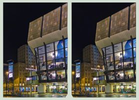 The Concert Hall  Cross Eye 3D by zour