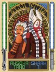 STAR WARS: Ahsoka Tano n' Shaak Ti by DaleNorvell