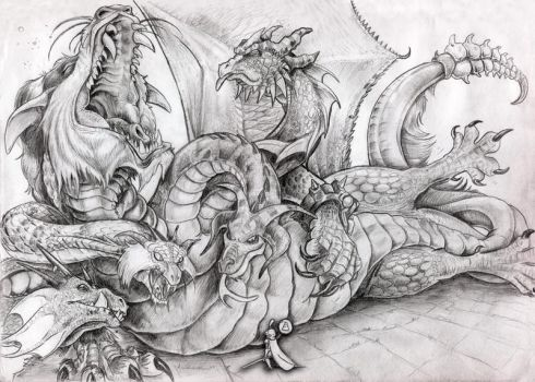 Tiamat.. Queen of the Dragons by elasticdragon