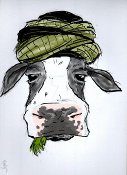 Photoshop Result of the Cow by daniel1988lopez