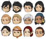 Dragon Age - DA2 characters by ShadowCutie1
