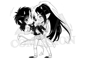 Comission Fynne and Zef by I--Zoldalma--I