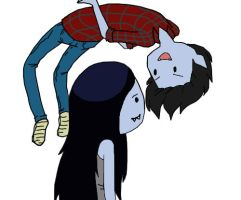 Marceline and Marshall Lee by DreaminSilly