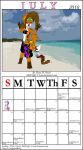 July Calender 2010 by MidNight-Vixen