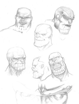 Thanos Sketches by AbsentM