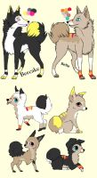 4 Pups to ~MilkaAdoptions by MichelsAdoptions