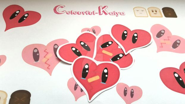 Heart Stickers! by Colorful-Kaiya