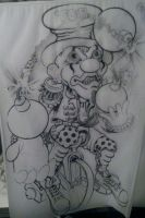 Line drawing for my Tat by Rodmansvisuals