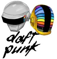 Daft Punk Thomas and Guy by Commie-Panda