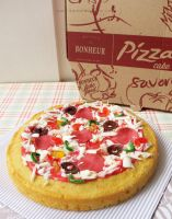 Pizza Cake by StrawberryStory