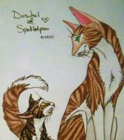 Daisytail and Speckledkit by MudstarMord-Sith