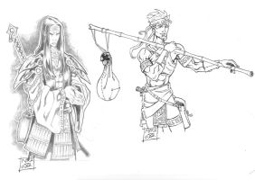 Eastern Fantasy style characters 2 by Nezart