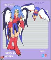 Pokedex Taillow and Swellow by Ddogg2287