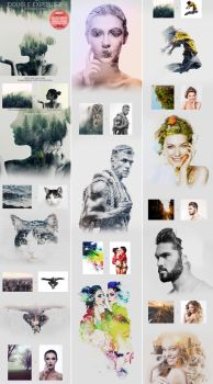 Double Exposure Photoshop Action by GraphicAssets