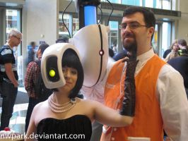 Pax 2013 GLaDoS and Freeman by nwpark