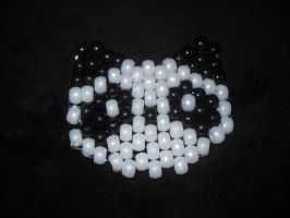 peyote stitch panda by toxiclysweet