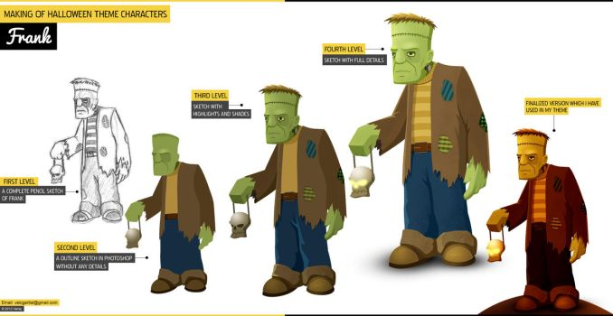 Making of Halloween theme Characters - Frank by velcgartist
