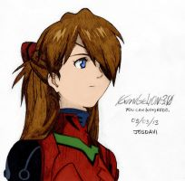 Drawing Asuka Langley Shikinami (Color) by josdavi94