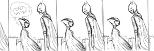 Kyd Wykkyd meets the Dark Knight by blackzodiac333