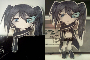Bookmark Cutout 3 - Black Rock Shooter by donutpolice