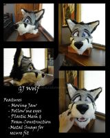 GJ Wolf Fursuit Head - First Head I've Made by GJWolf