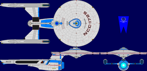USS Longbow Refit Multi-View by captshade
