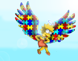 Autistic Angel- Lisa Simpson by cyngawolf