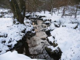 Picketts Beck Winter by AnnaCSwhite