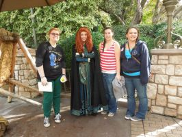 Merida, my friends and I by QueenoftheLemurs