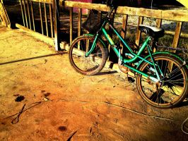 the green bicycle by ayien-chan