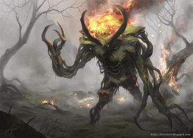 Fire Treant by Fetsch