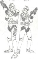 Star Wars: The Clone Wars: Echo and Fives by Sable-The-Wolf