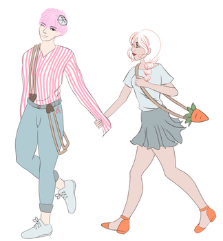 BongBong and Carat by DrawWithNessie