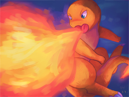 Charmander Speedpaint by honrupi
