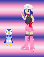 Hikari and Piplup by TheLimeTangerine